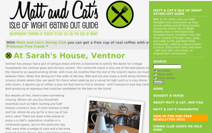 Matt and Cat's Isle of Wight Eating Out Guide