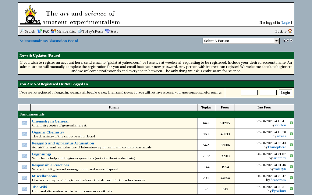 Sciencemadness Discussion Board