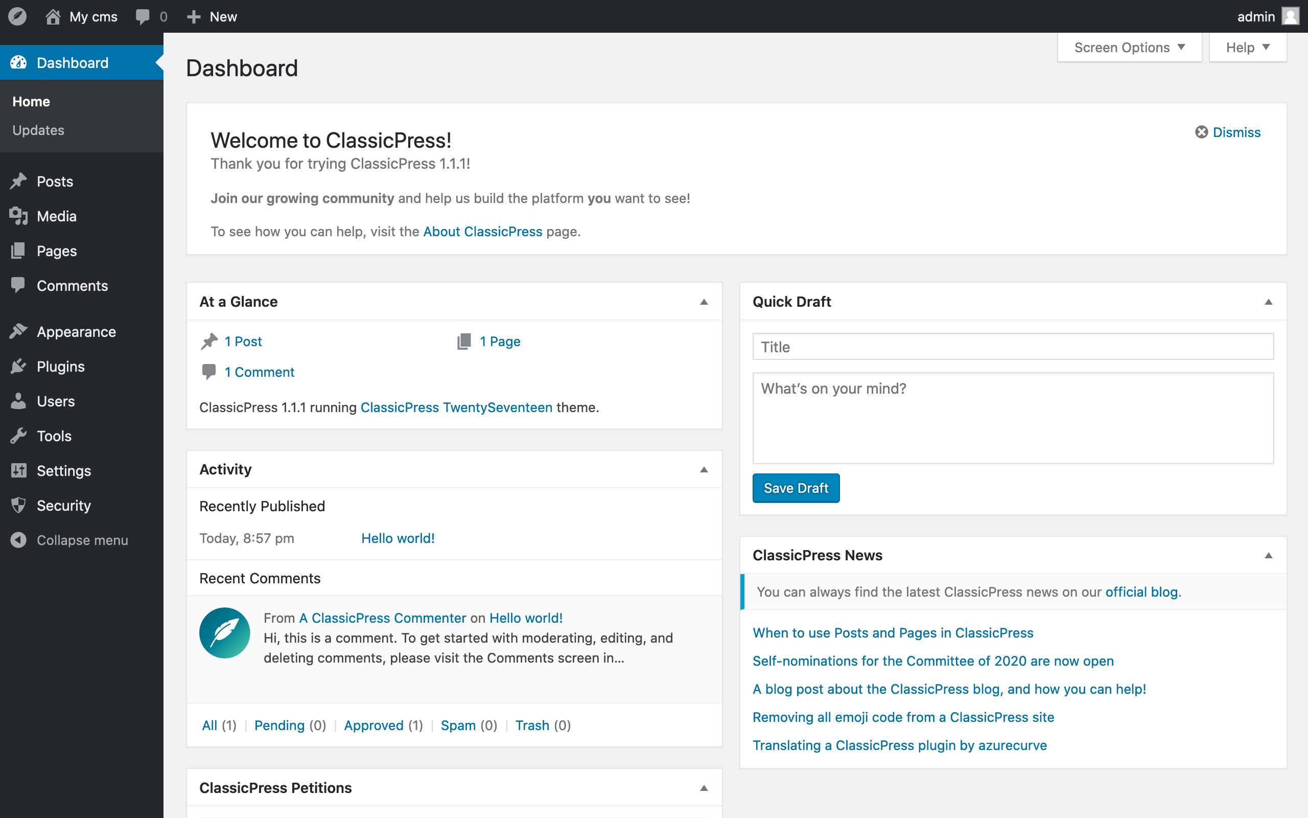Hosting ClassicPress