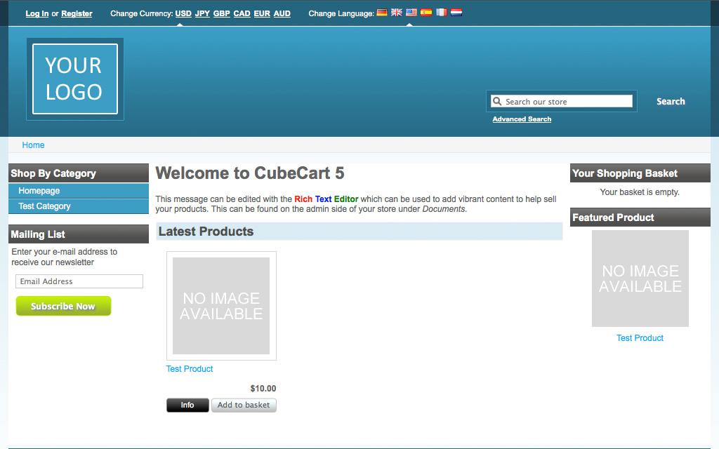 Hébergement CubeCart