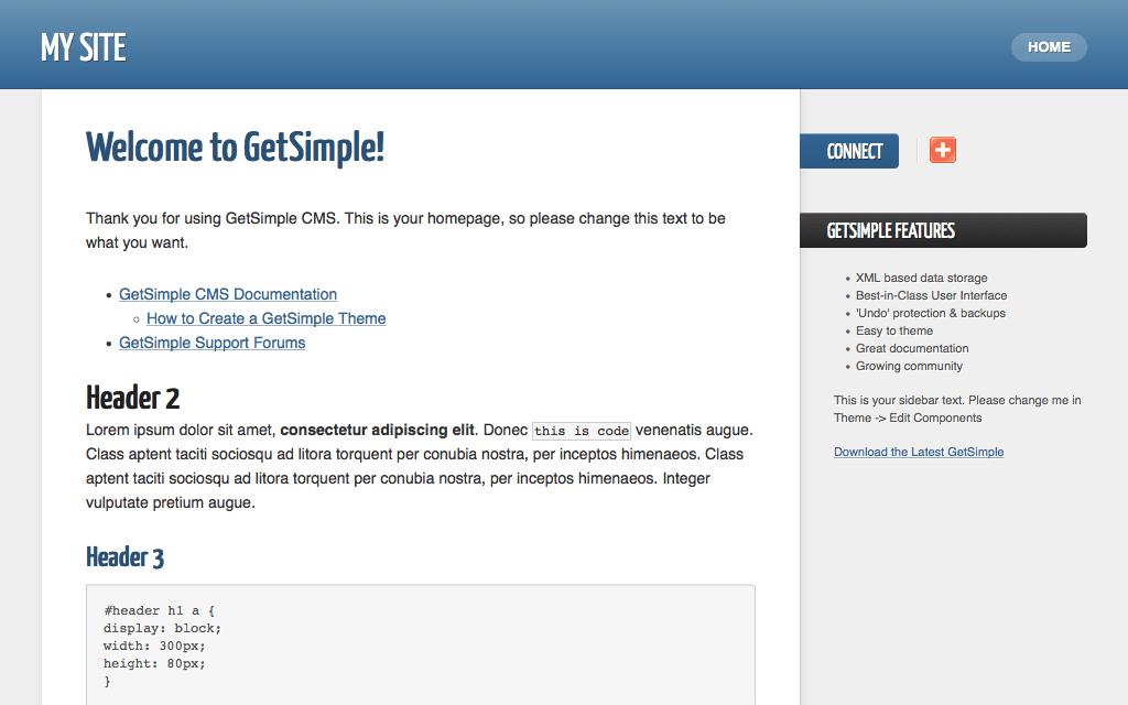 Hosting GetSimple