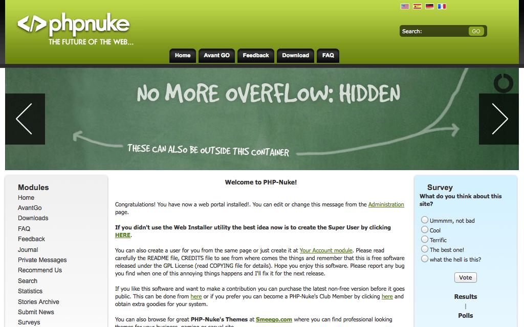 Alojamiento PHP-Nuke