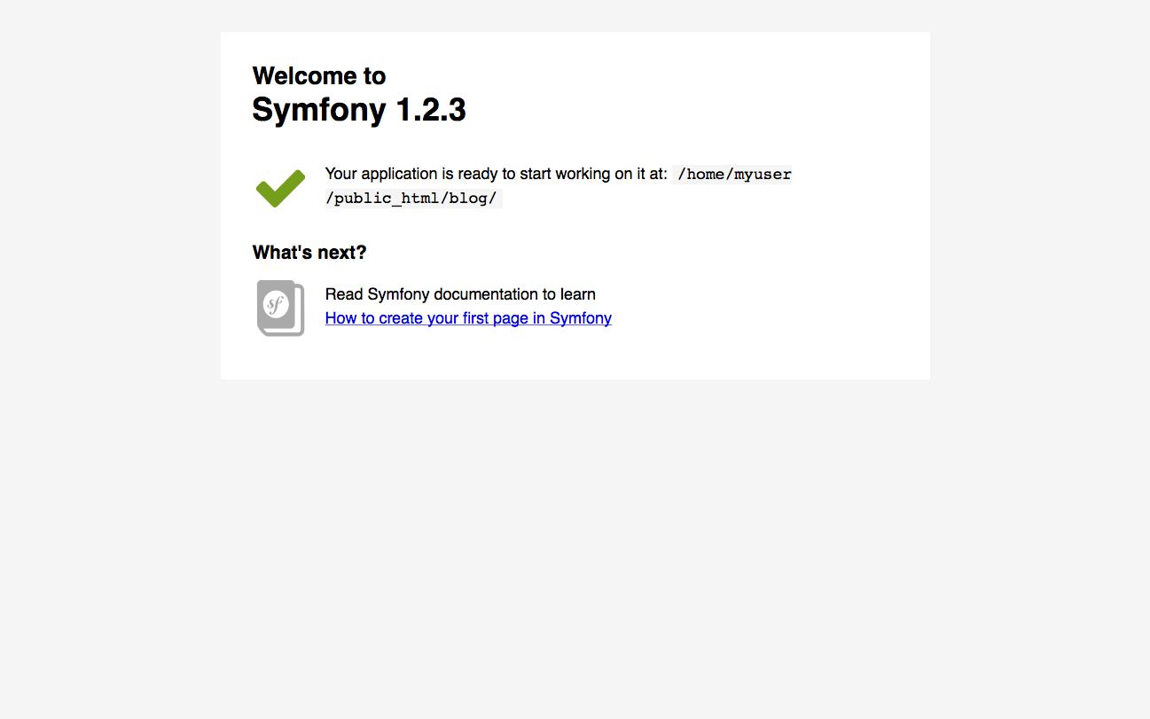 Alojamiento Symfony