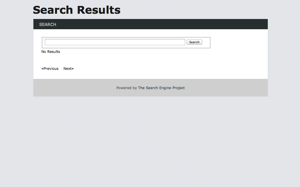 Search Engine Project