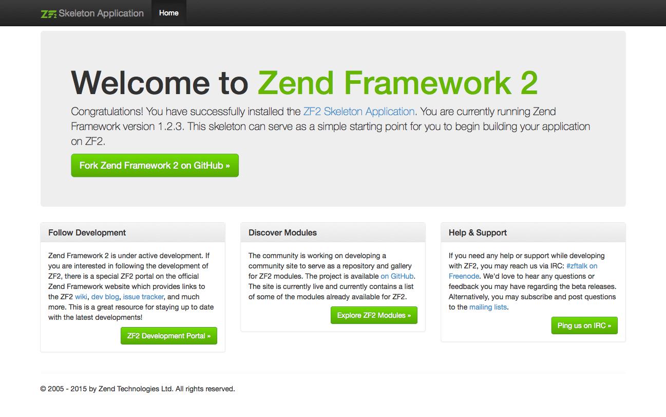 Alojamiento Zend Framework