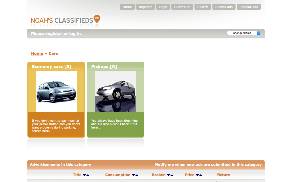 Hébergement Quicksell Classifieds