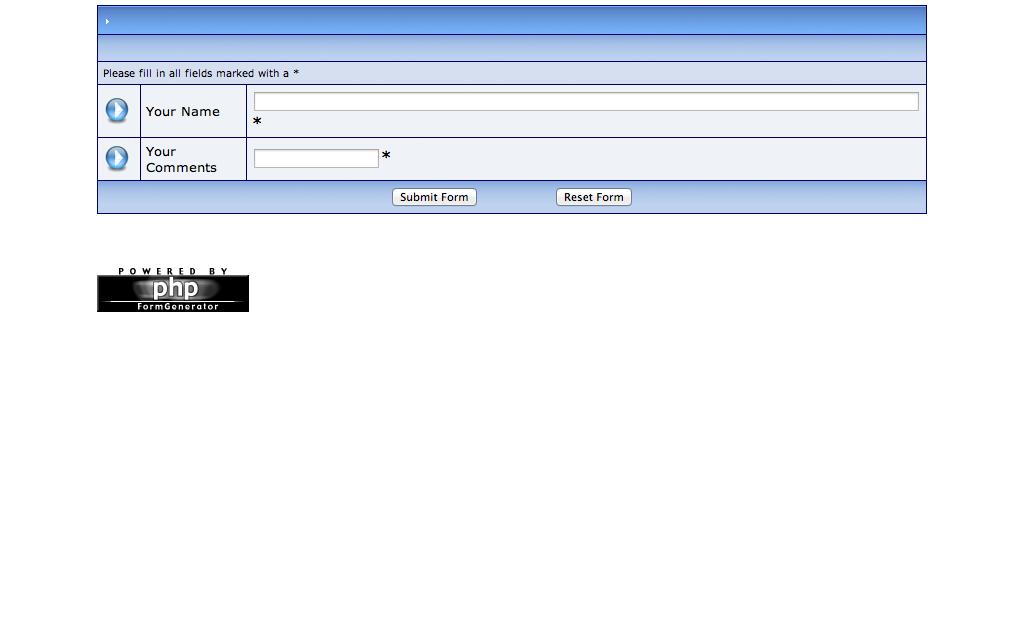 Hosting phpFormGenerator
