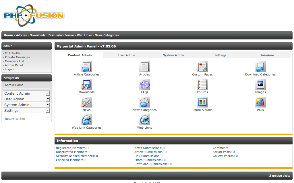 Hosting PHP-Fusion