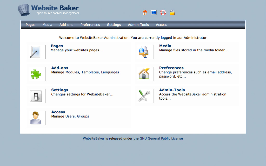 Hosting WebsiteBaker