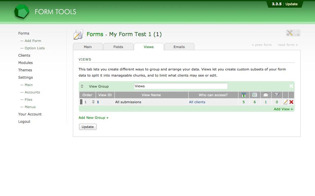 Alojamiento Form Tools