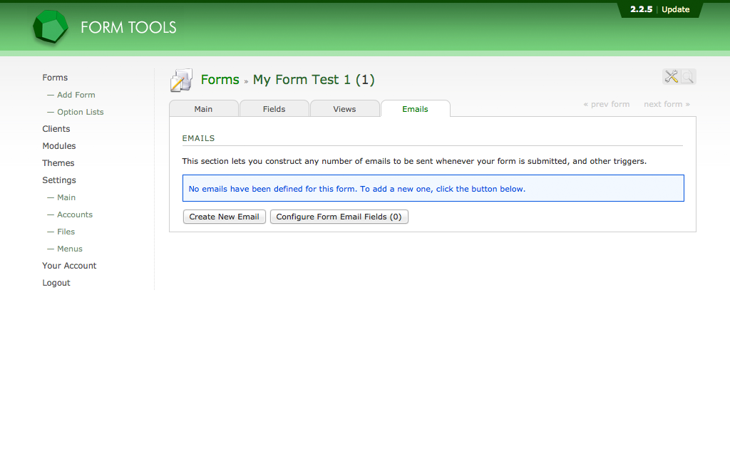 Hosting Form Tools